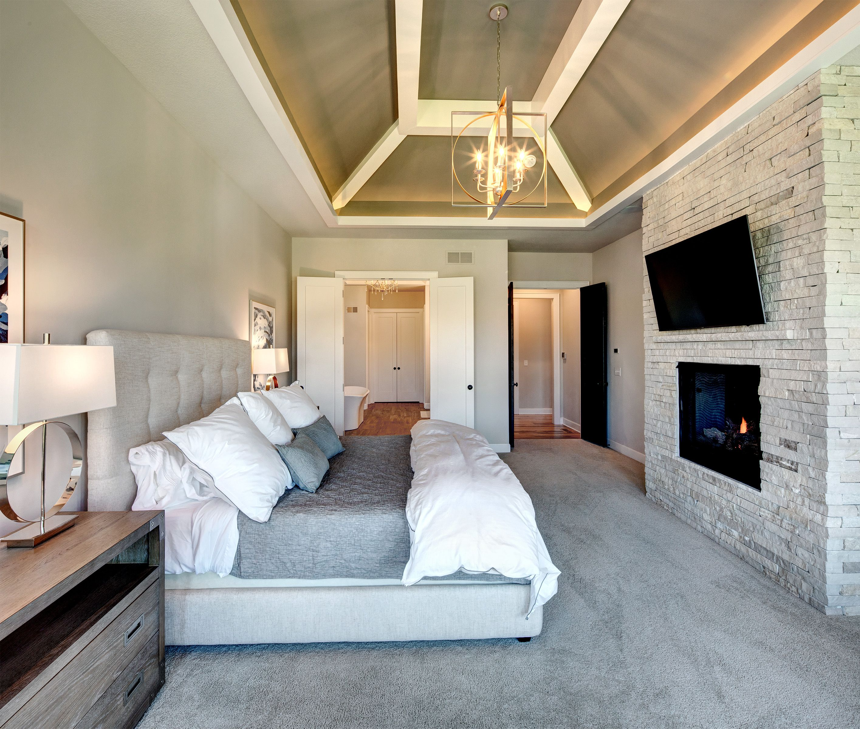 master bedroom with tray ceiling  master bedroom home