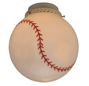 Baseball Light Fixture Diy Use Sharpie Paint Pen Or Acrylic Paint Baseball Themed Bedroom Baseball Bedroom Craftmade