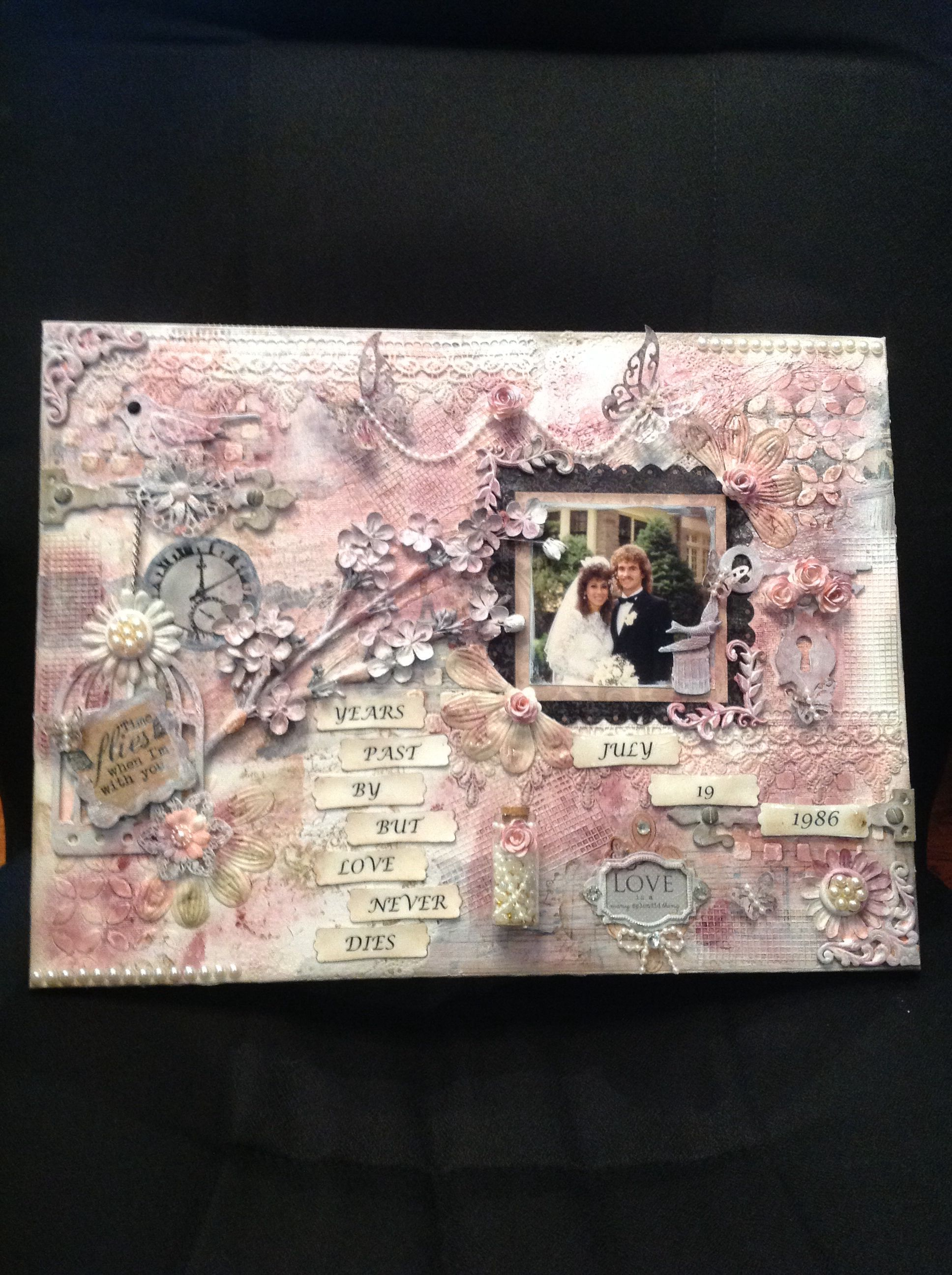 Mixed Media Canvas Of Our Wedding Day Designs By Creativewayz