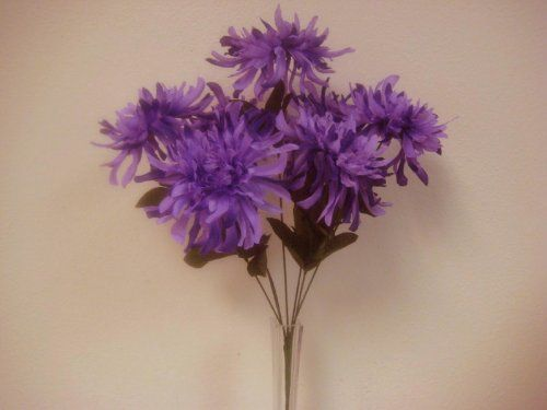 2 bushes purple spider mum artificial silk flowers bouquet 1 x 7 2 bushes purple spider mum artificial silk flowers bouquet 1 x 7 3393pu phoenix silk http mightylinksfo