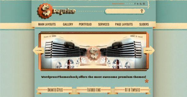 99 free themes in PSD