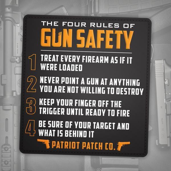 4 rules of gun safety patch guns pinterest safety guns and