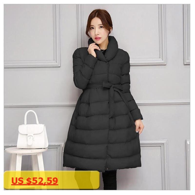 87395d3c0e132 Adogirl 2017 New Fashion Women Winter Down Jackets Warm Long Slim Coat And  Jacket Female Big
