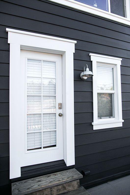 Paint It Black Window Trim Exterior House Paint Exterior