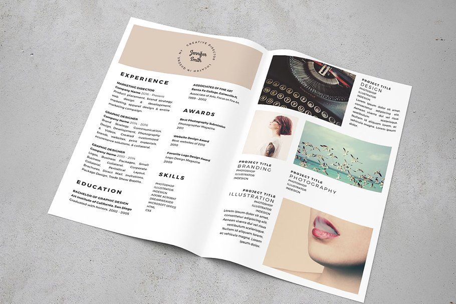 The Resume BiFold 8.5 x 11 Resume design template, Cover