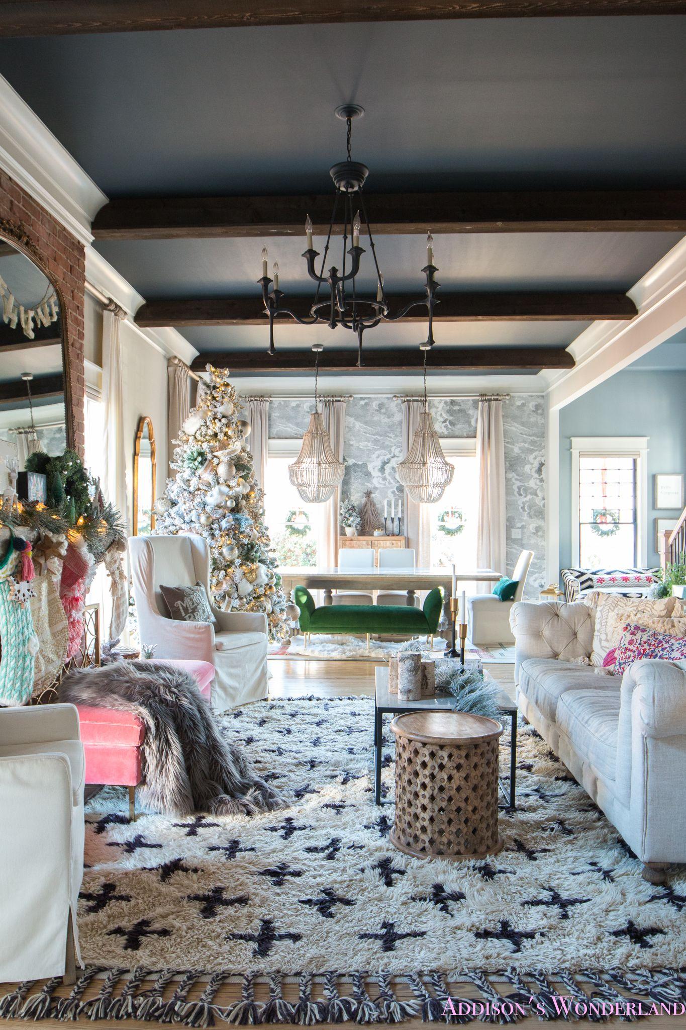 Our Whimsical Colorful Christmas Holiday Living Room Holiday Living Room Whimsical Living Room Home Decor Whimsical living room decor