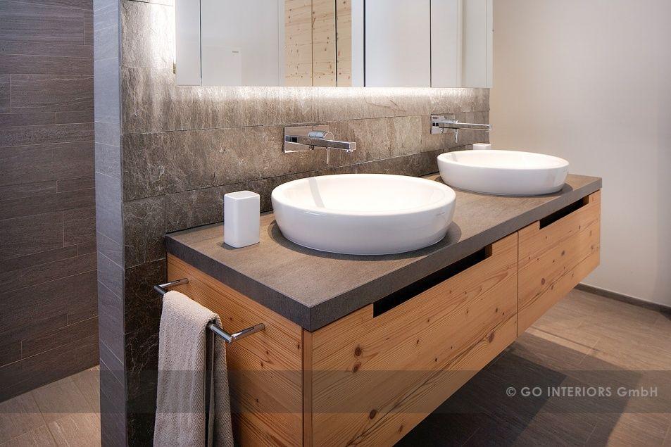 Home Deutsch Badezimmer Waschtisch Holz Badezimmerideen