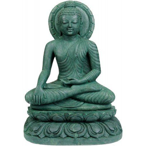 Natural Green Designer Gemstone Budhha Buddha Home