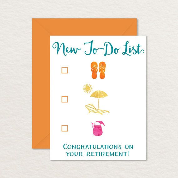 printable retirement cards