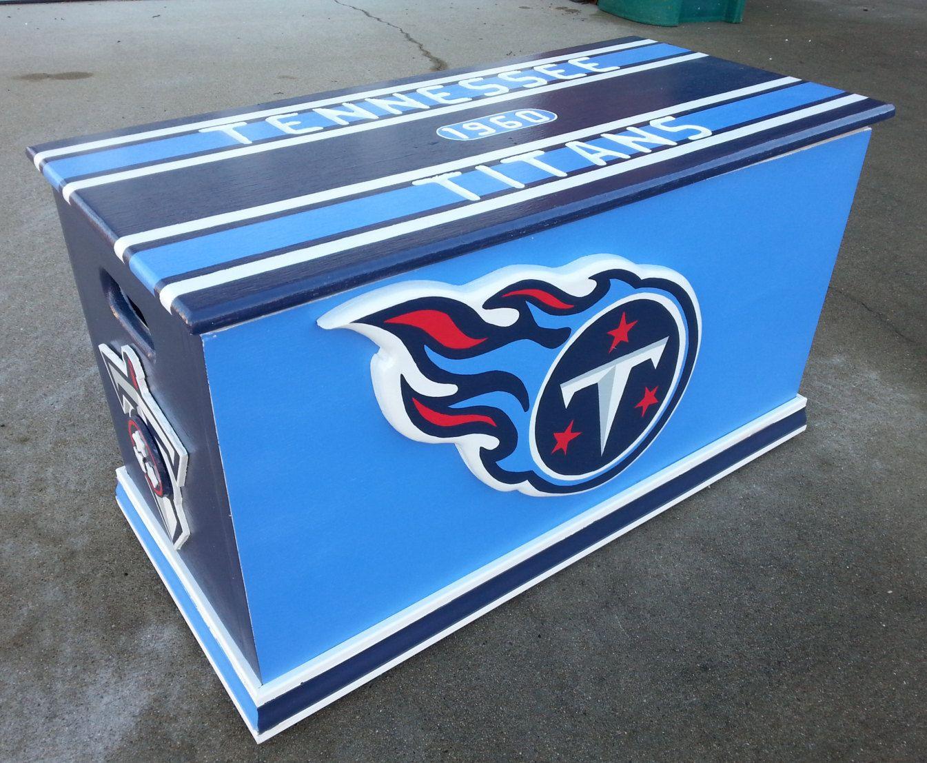 6a192c97b Tennessee Titans inspired storage box, Titans storage, Tennessee ...