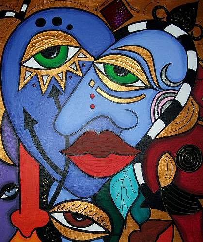 Abstract Art Paintings People Annett Schmoelling Art