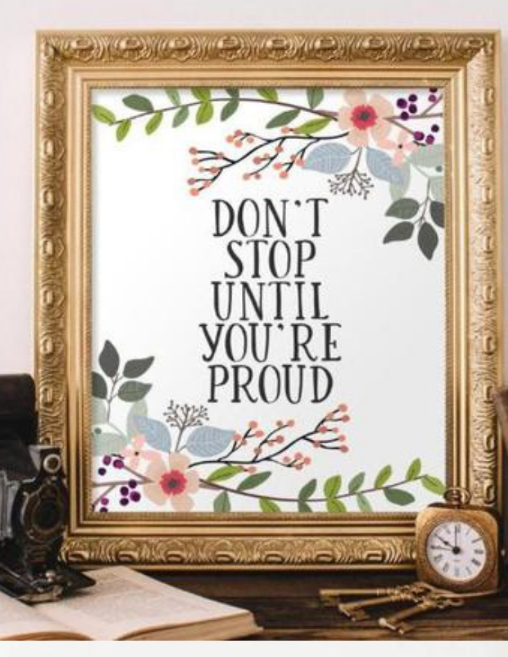 Don T Stop Printable In 2020 Printable Wall Art Shabby Chic Decor Wall Prints