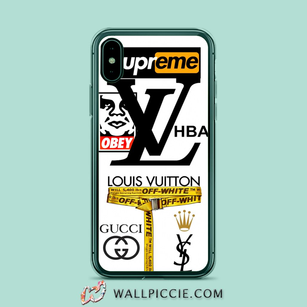Supreme Obey Off White Collabs Iphone Xr Case Custom Phone Cases In 2020 Custom Iphone Cases Custom Phone Cases Case