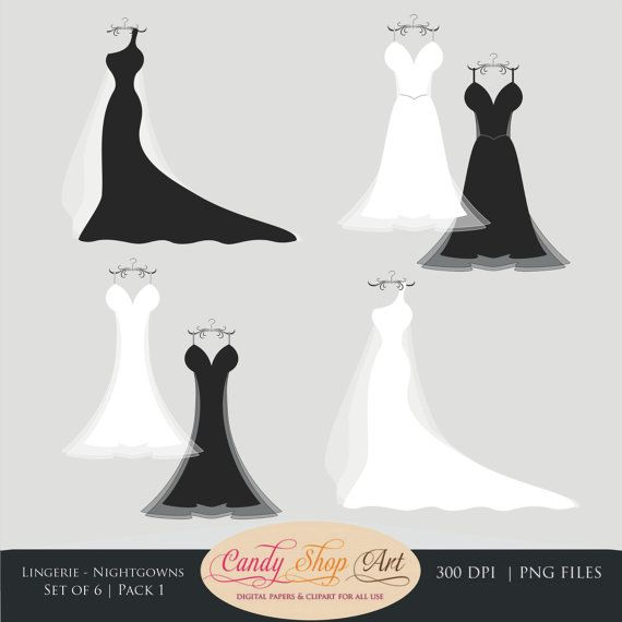 Free wedding dress clipart images