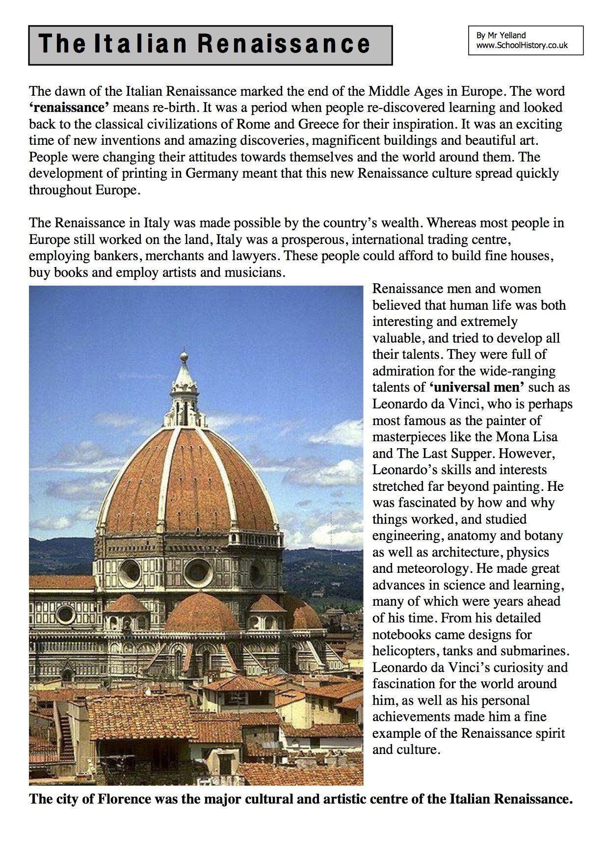 Uncategorized Renaissance Worksheets the renaissance worksheets ks3 ks4 lesson resources year 9 resources