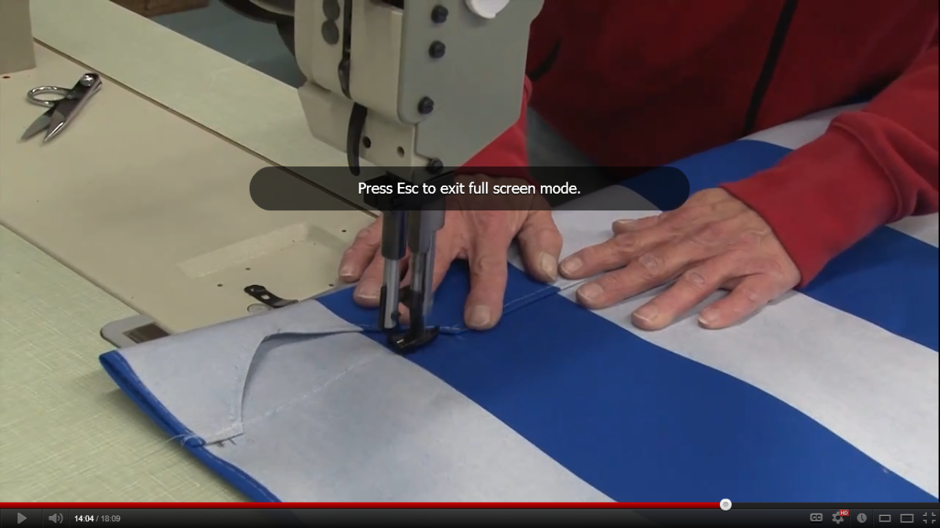 Making An Awning How To Install Hardware Emt And Sew An