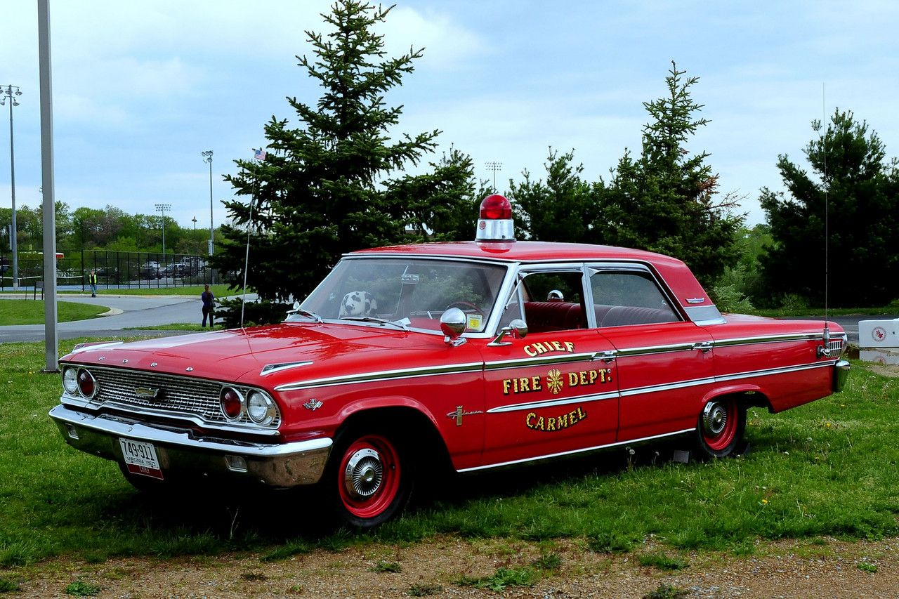 1963 Ford Galaxie 500 Fire Chief Car Fire Trucks Rescue