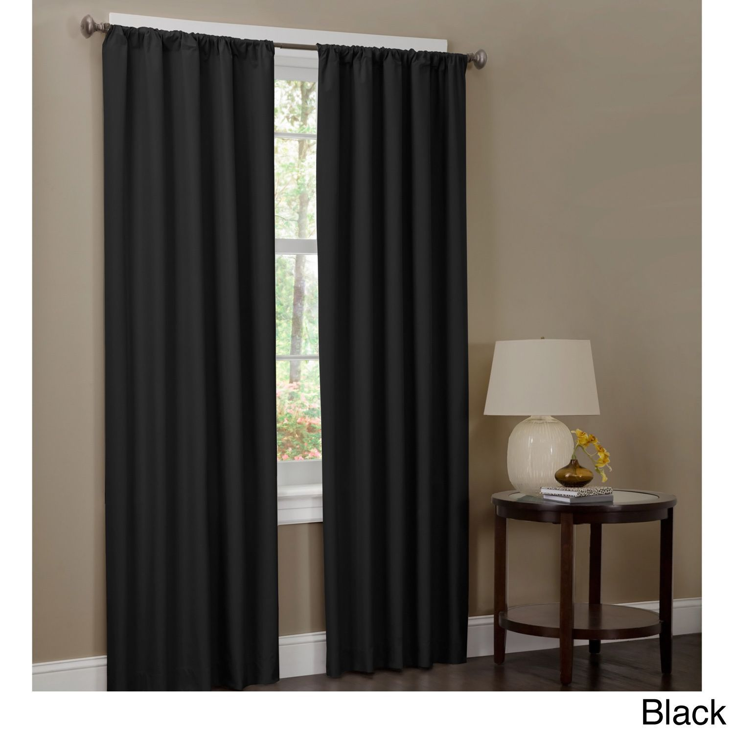 84 Inch Tan Henna Blackout Curtain Panel In 2020 Panel Curtains