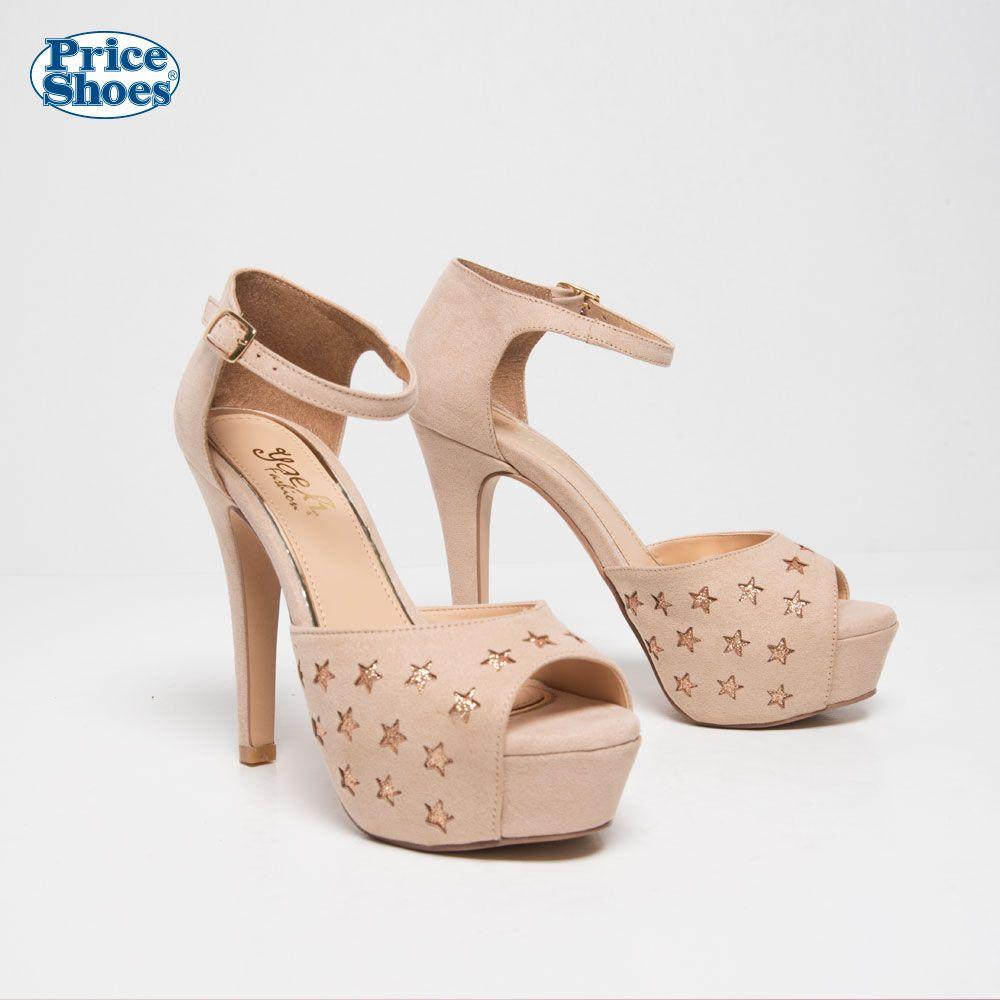 7d0ec901b67 SANDALIA DE VESTIR -  Sandlias2018  PriceShoes  estrellas  brillo  tacones