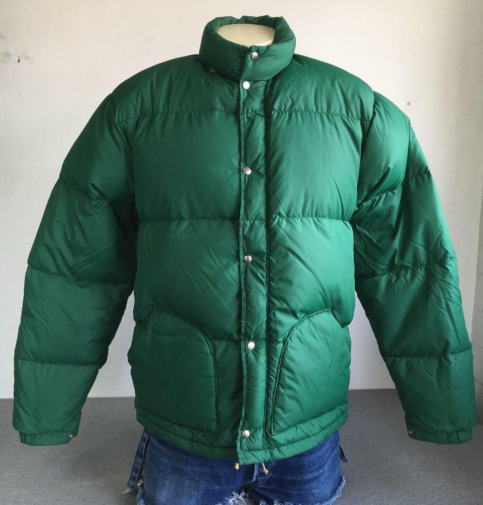 SIERRA DESIGNS Puffer Jacket 70s Vtg DOWN Parka Coat Insulated Mountaineer Men L #SierraDesigns #Puffer