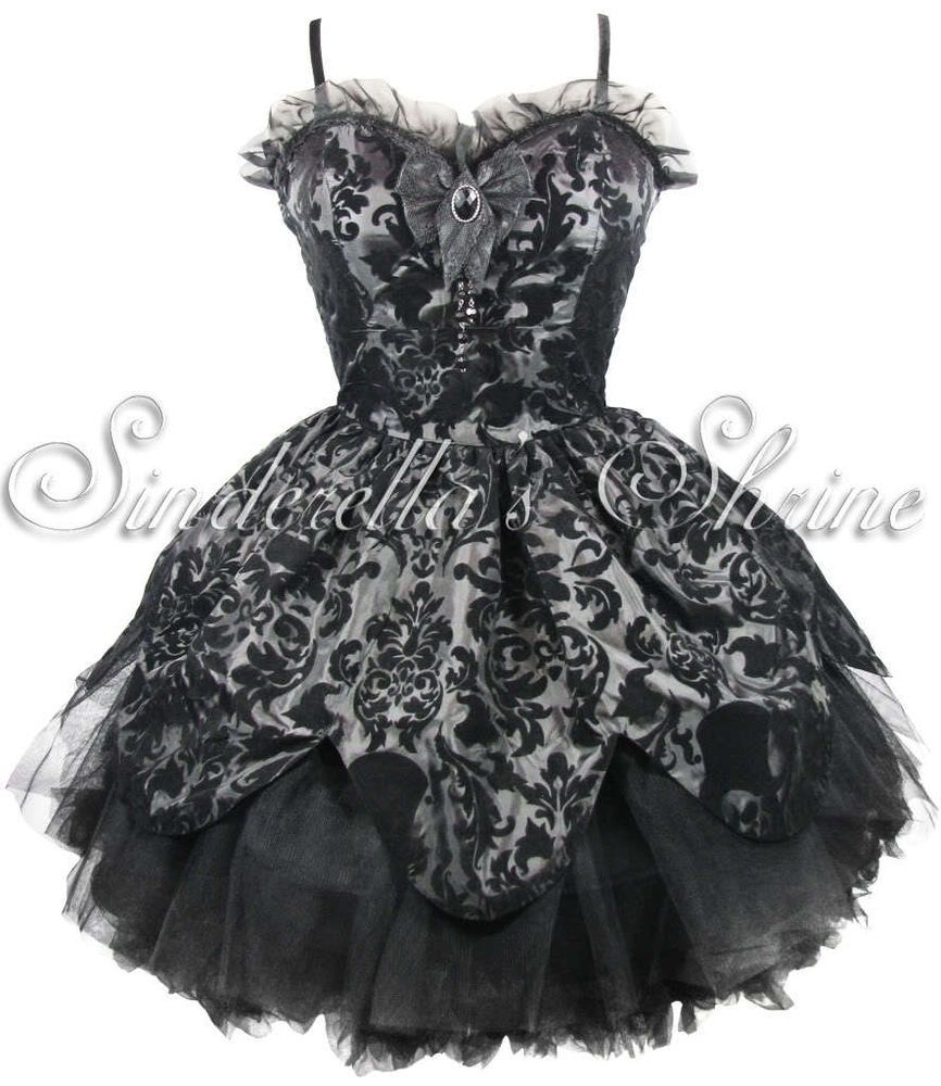 New hell bunnypetalvictorian steampunk gothic party dress