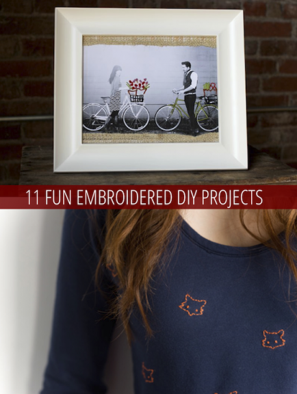 11 Fun Embroidered DIY Projects