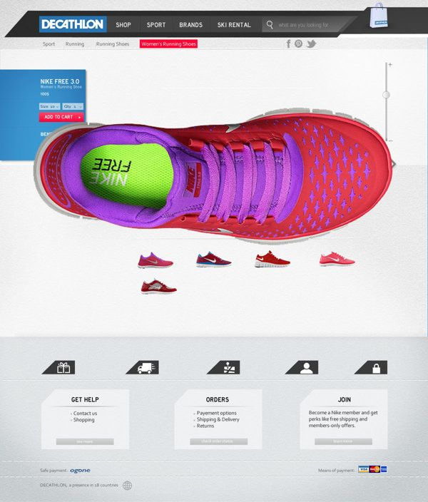 DECATHLON - website on Web Design Served