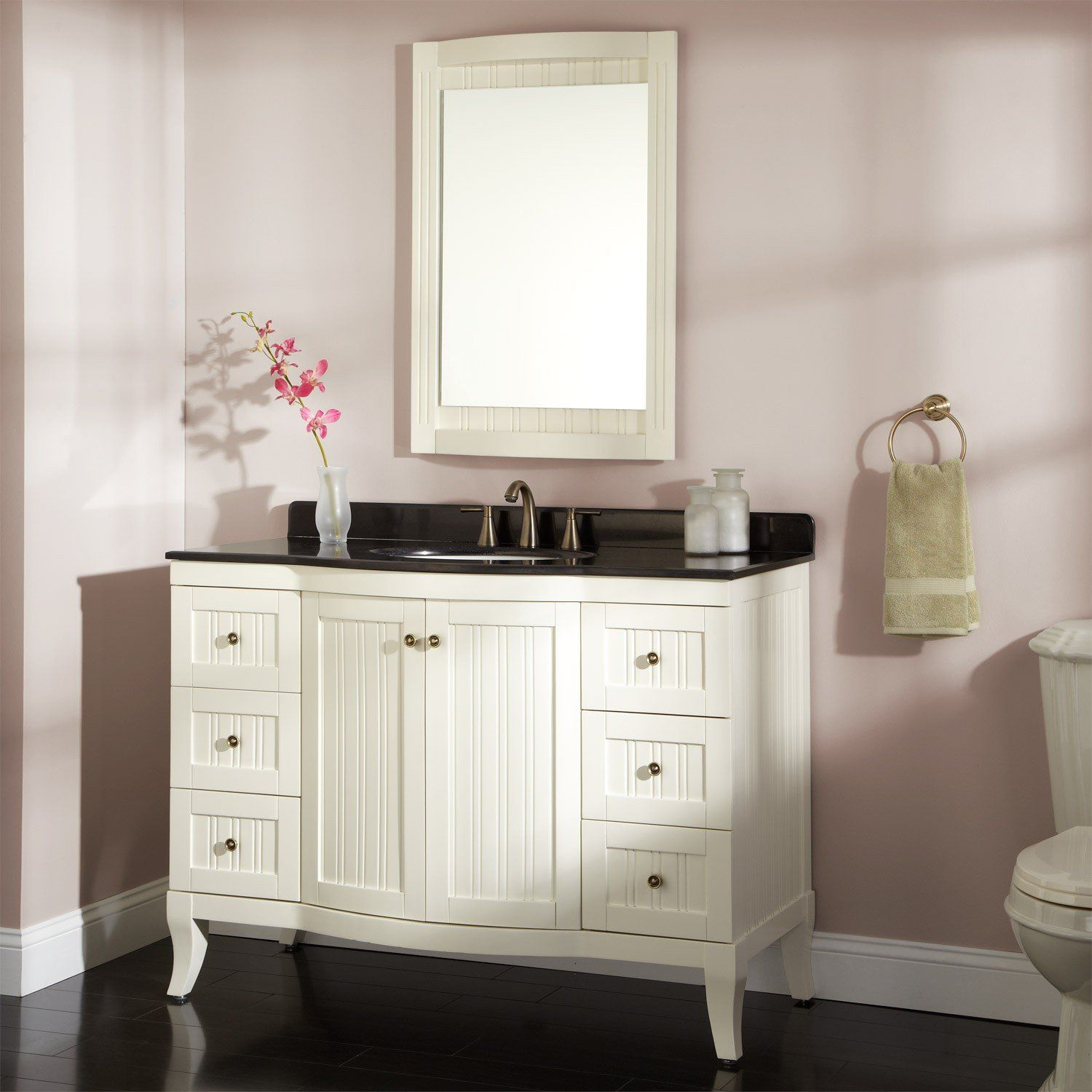 White Modern Bathroom Vanity Shelves Vanities Mirror Design Ideas ...