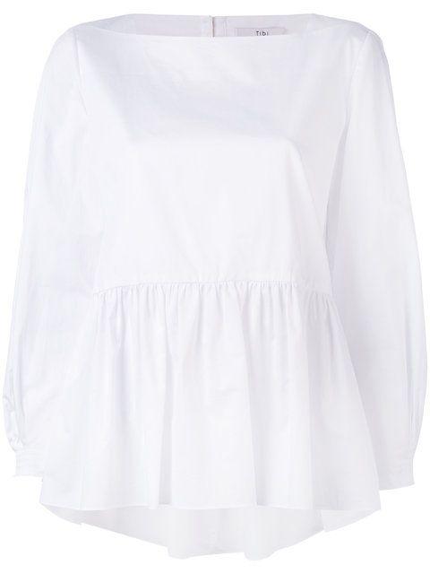 TIBI Pleated Blouse. #tibi #cloth #blouse