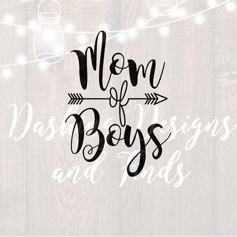DIGITAL DOWNLOAD mom of boys svg - mom svg - mom shirt ...