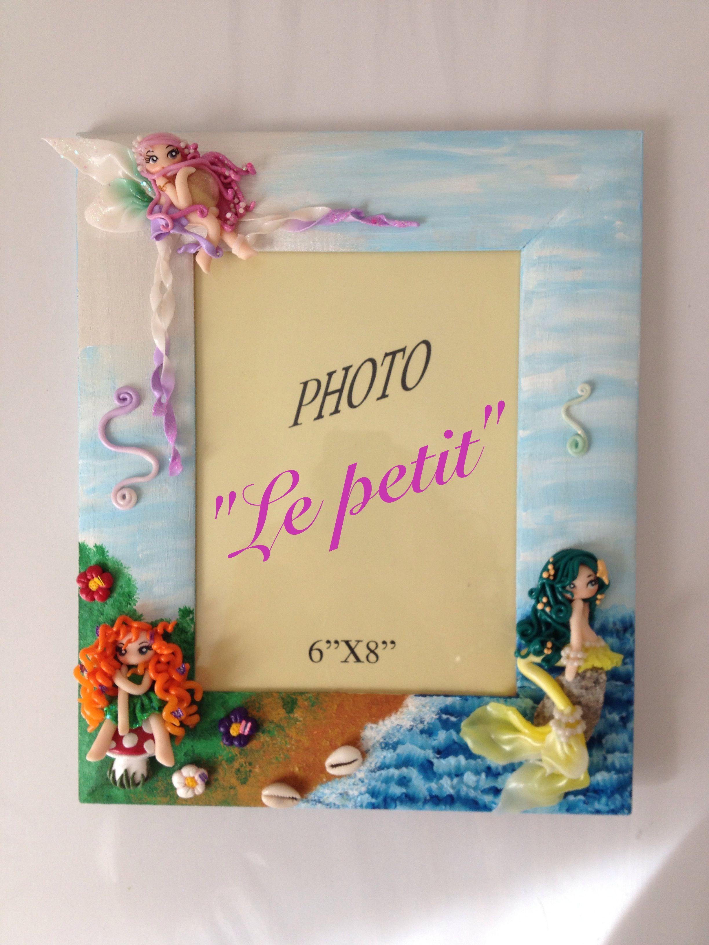 Cornice dipinta ad acrilico e decoro in fimo | ninas | Pinterest ...