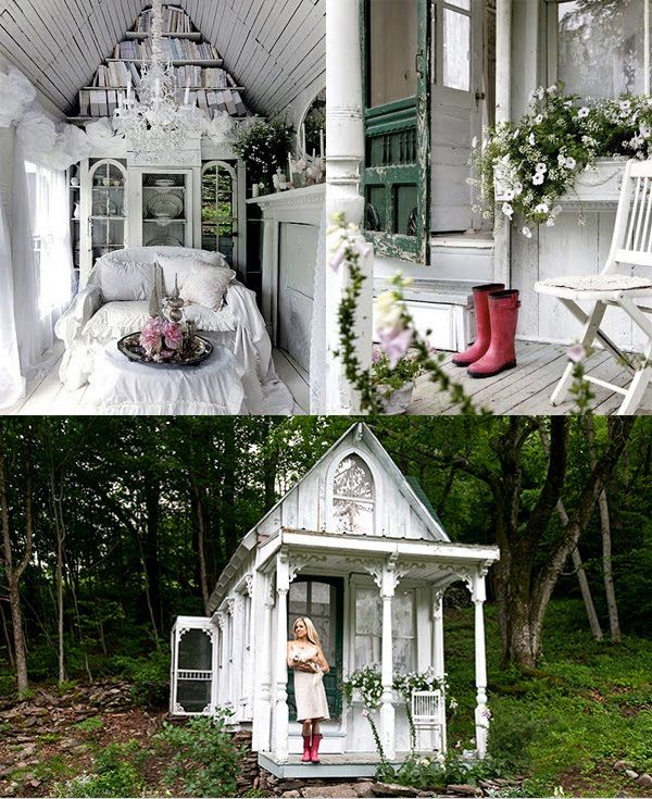 Gorgeous little cottage architectural delights - Gartenhaus shabby chic ...