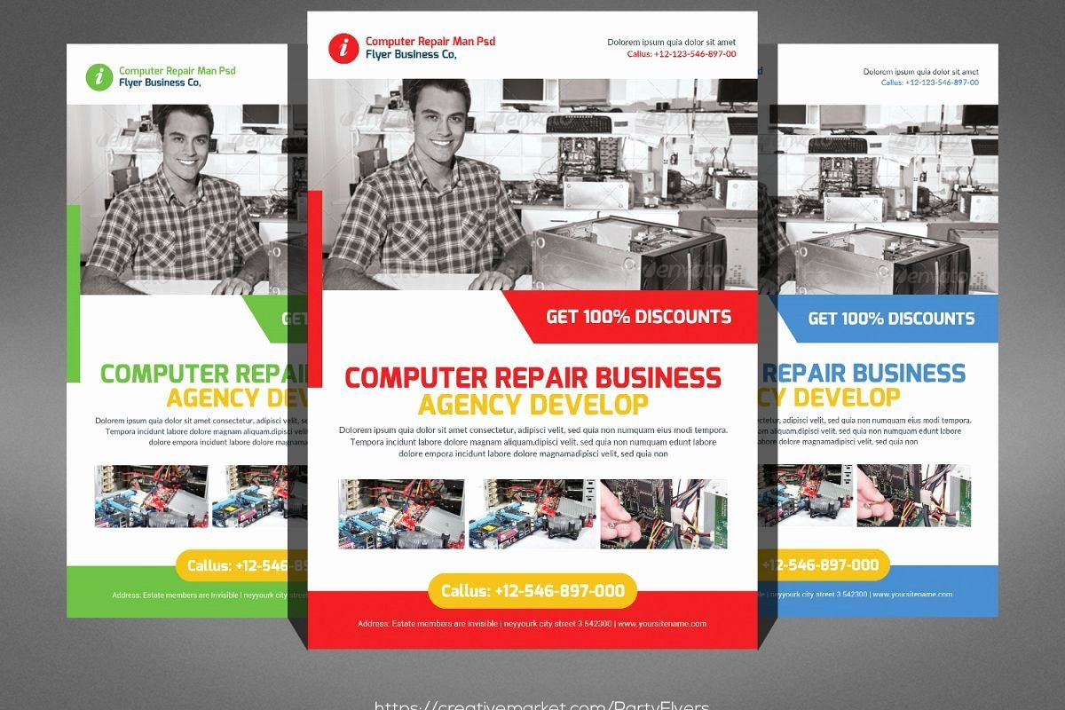 Free Computer Repair Flyer Template Awesome Puter Repair Flyer Computer Repair Flyer Template Flyer