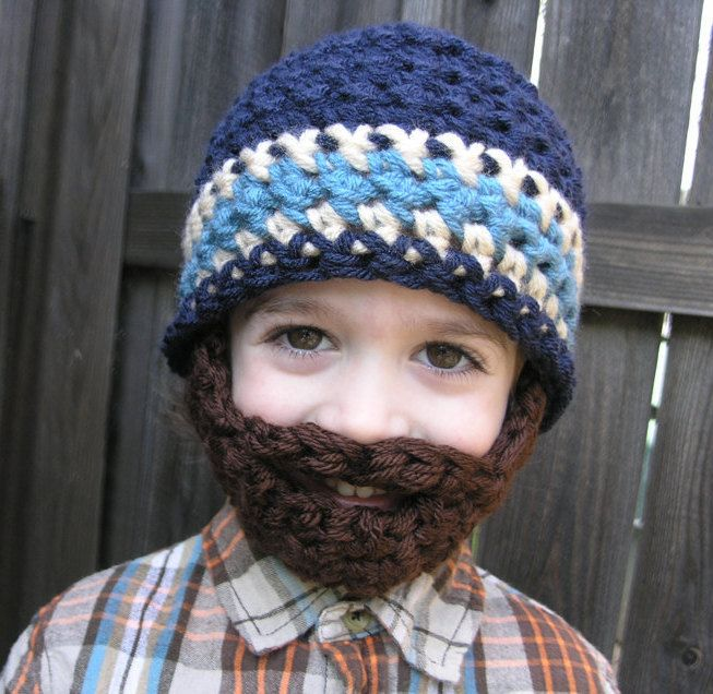Instant Download- Pattern for Crochet Bearded Beanie size 12mo-2T #crochetedbeards