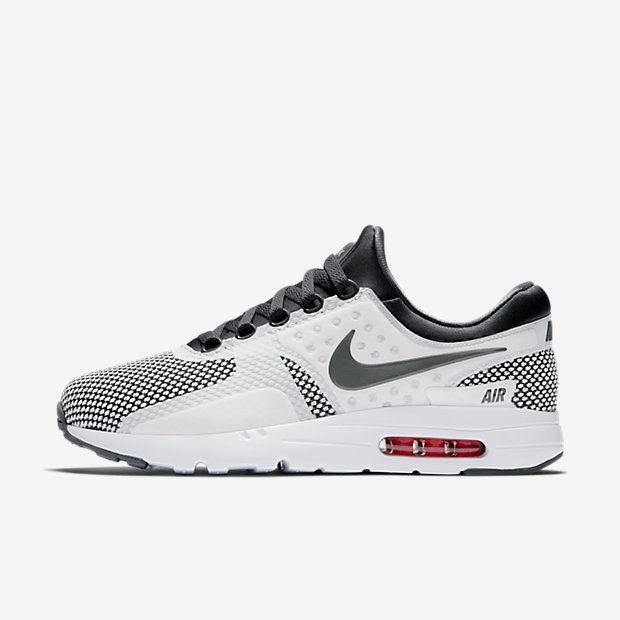 huge discount 51d81 4e1d0 Chaussure Nike Air Max Zero Pas Cher Homme Essential Gris Fonce Blanc  Sommet Cramoisi Brillant Gris Fonce Bienvenue au magasin de dégagement de  nike, ...