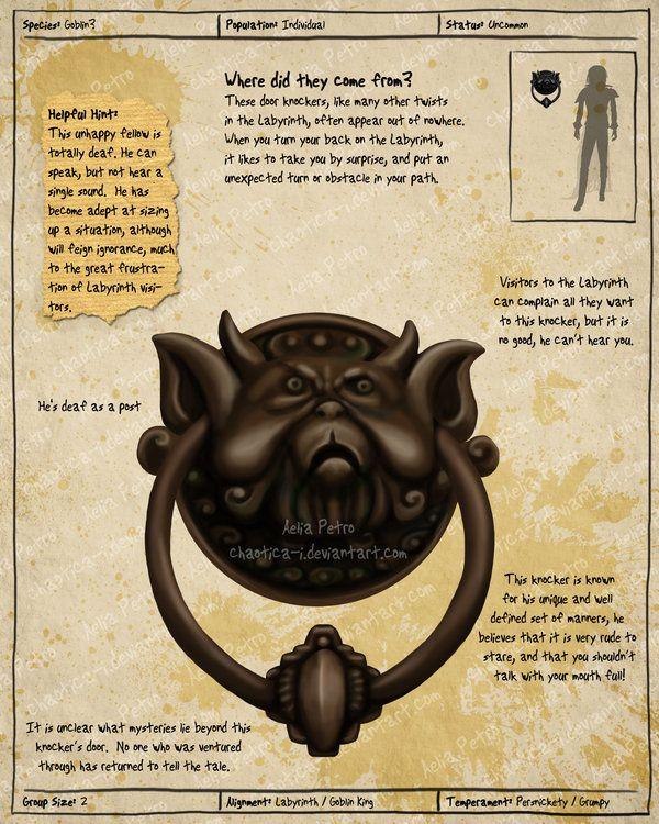 Labyrinth Guide Door Knocker 2 by Chaotica-I.deviantart ...