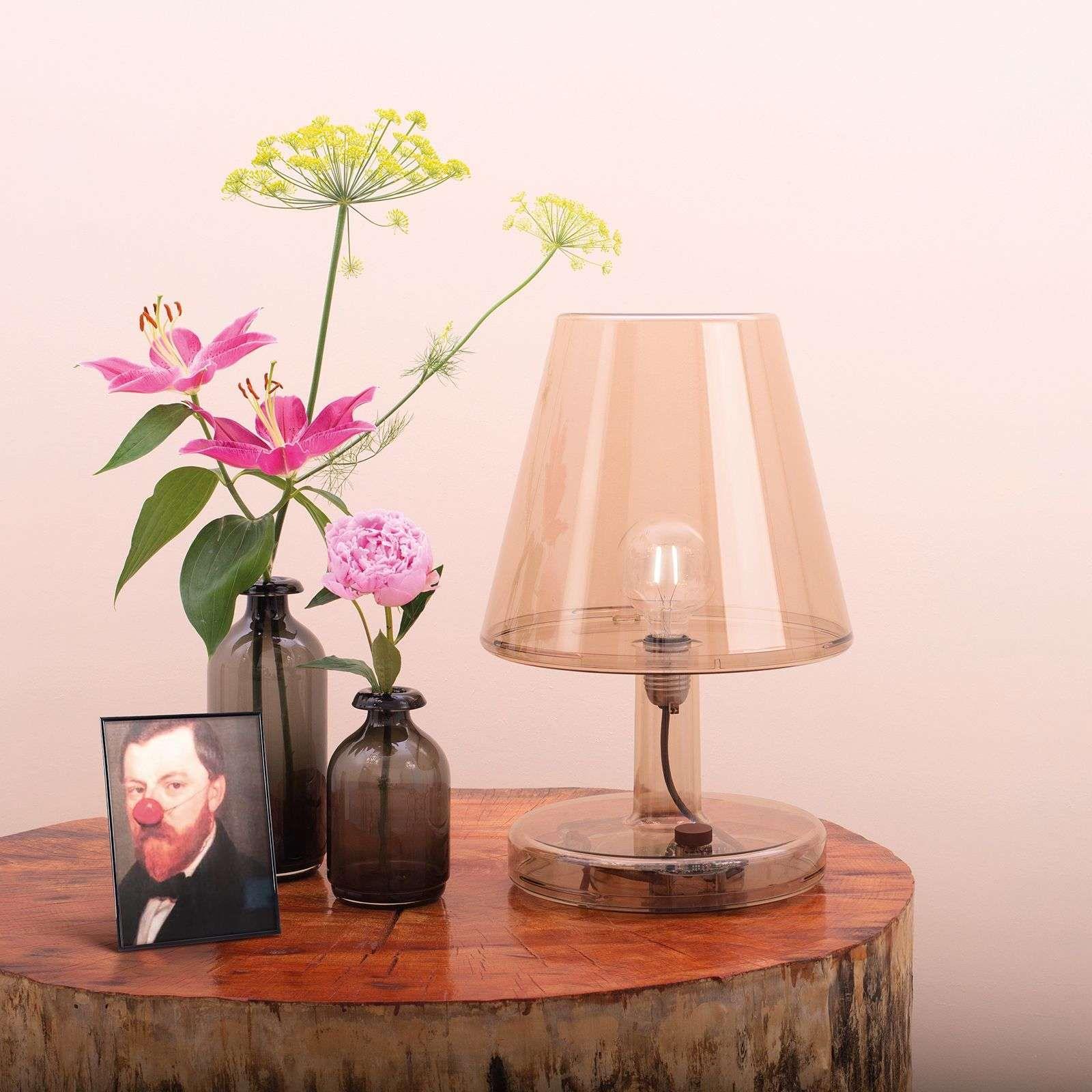 Designer Tischlampe Trans Parents Von Fatboy Bronze Tischleuchte Led Tischleuchte Und Led