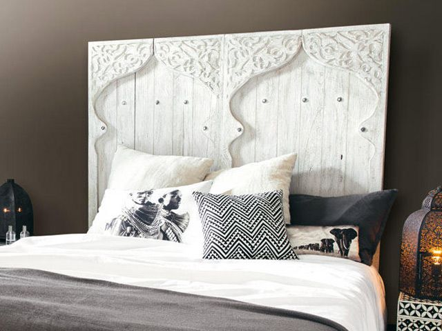 t te de lit exotique pour une chambre d co ethnique chambre pinterest deco ethnique tete. Black Bedroom Furniture Sets. Home Design Ideas