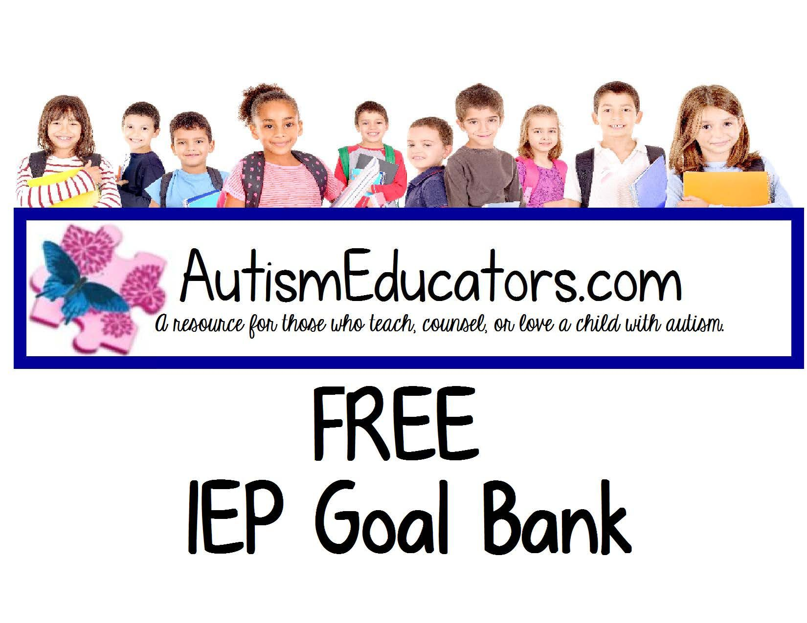 Browse Through Our Free Iep Goal Bank To Help With Writing