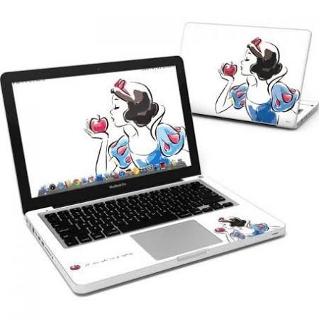 snow white macbook decal - Google Search