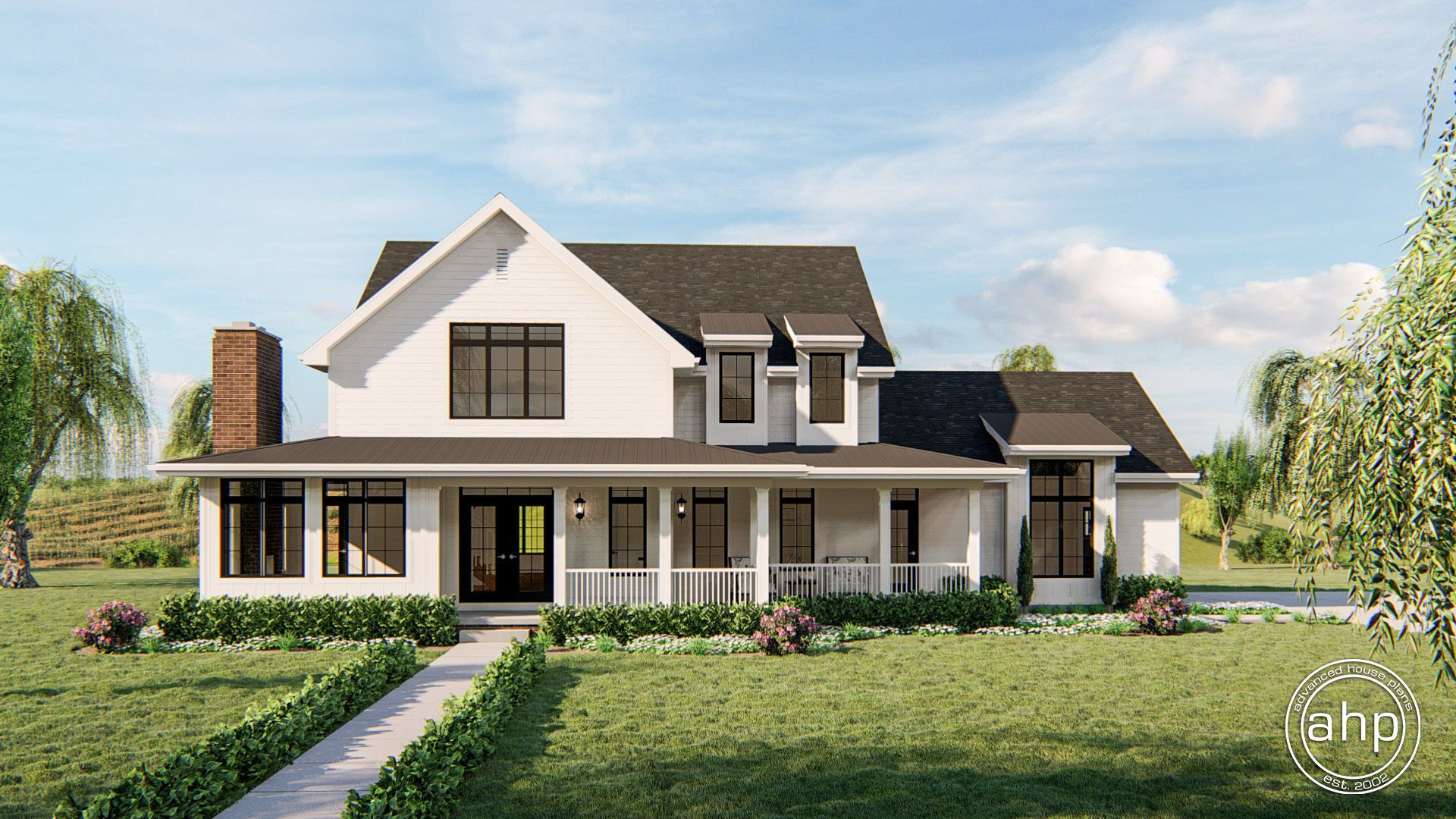 2 Story Southern Style House Plan Thomasville Southern Farmhouse Porch House Plans Farmhouse Plans