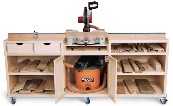 réalisation d\u0027un meuble support pour scie à onglet Plus workshop