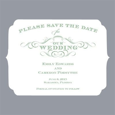 Chic Die Cut - Clover - Save the Date