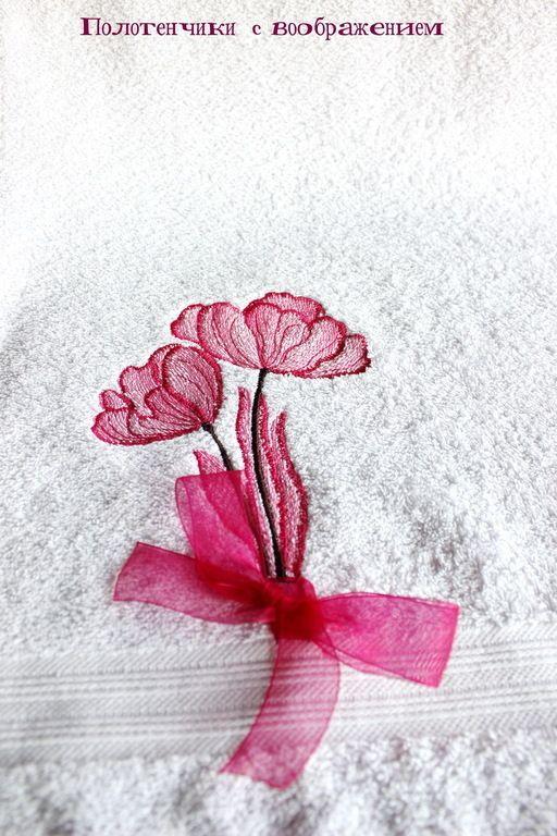 Купить Пара . Полотенце для восторга. - бледно-розовый, полотенце с вышивкой, полотенце для рук, полотенце в подарок