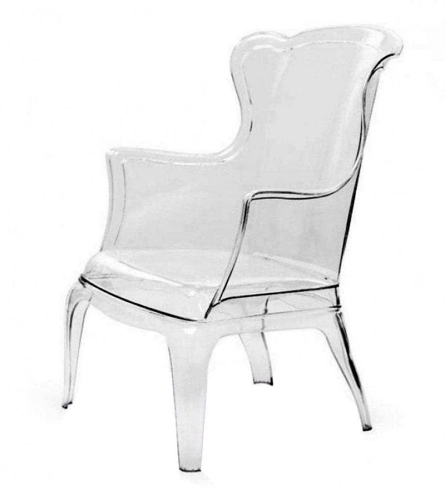 Free Shipping Modern Lucite Ghost Wingback Chair Clear Acrylic Armchair