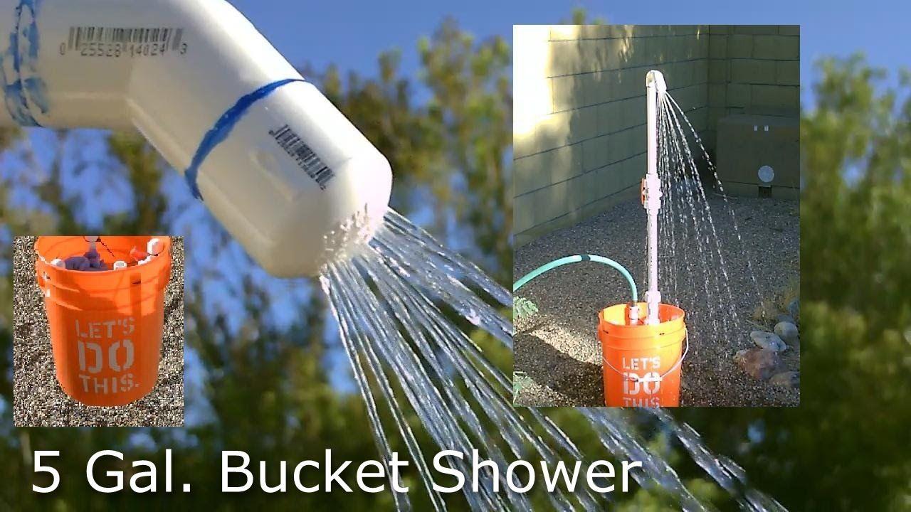 Diy Shower The 5 Gallon Bucket Pvc Camp Shower Pvc Bucket Shower Camping Shower Diy Camping Shower Diy Shower