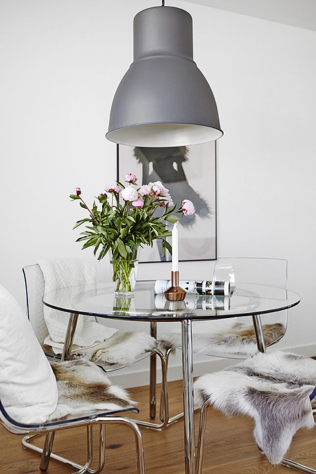 Check out this clear and chic dining room space  bloglovin featuring the  transparent TOBIAS chairs  Ikea White Dining TableIkea. I wanted to work with transparency as a predominate element in