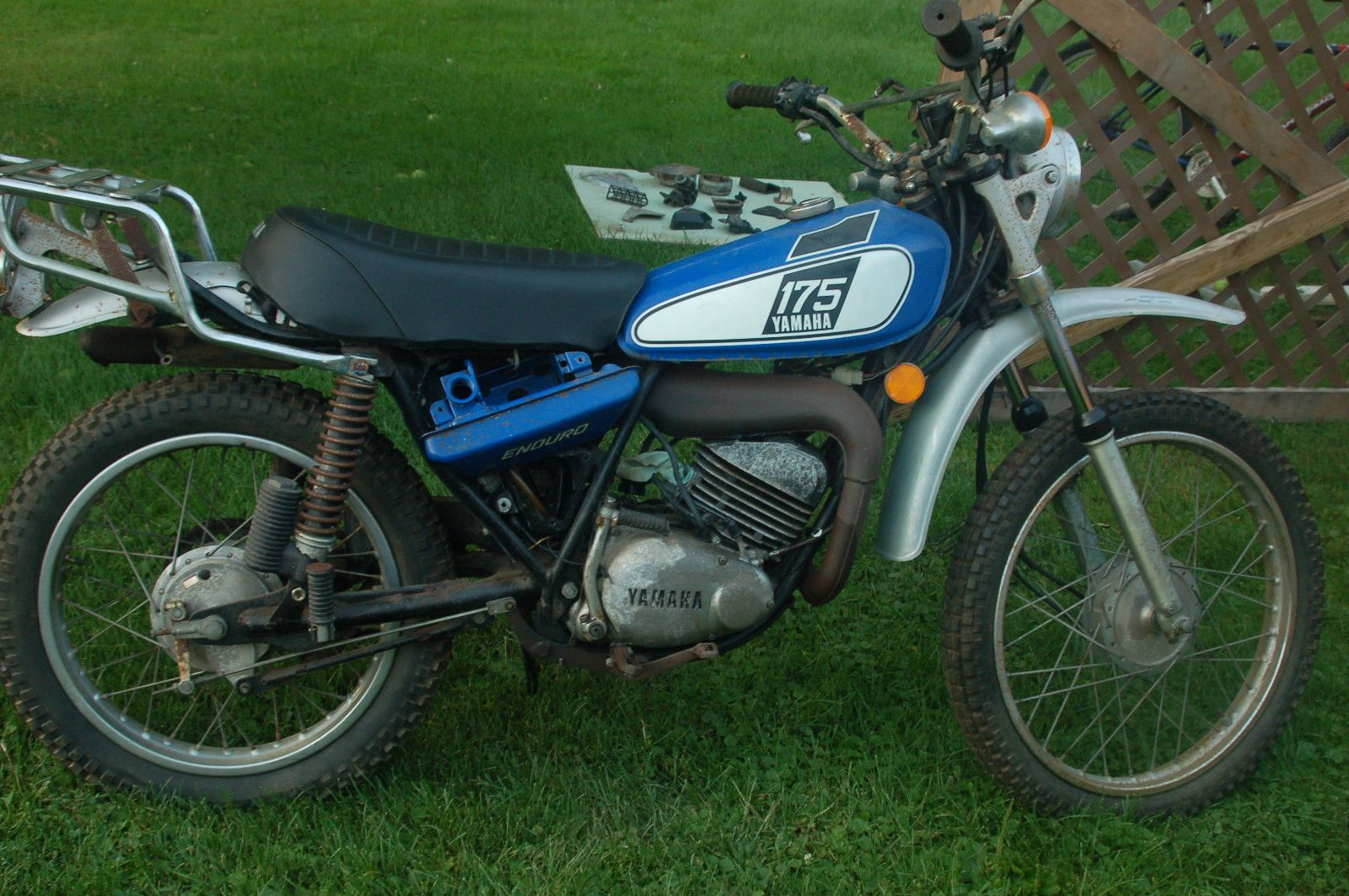 1976 yamaha dt175 enduro parts bike non runner dt rt mx. Black Bedroom Furniture Sets. Home Design Ideas