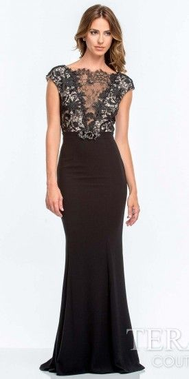 Evening dresses with lace inserts for wedding