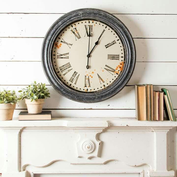 Rustic Wall Clock Magnolia Chip And Joanna Gaines Magnolia Market Wall Art